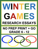 Winter Olympics 2018 Research Project