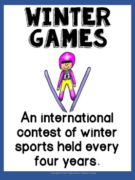 Winter Olympics 2018 SPORTS POSTERS ONLY