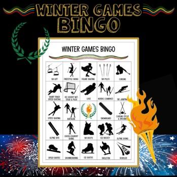 Winter Olympics 2018 Secondary Bingo
