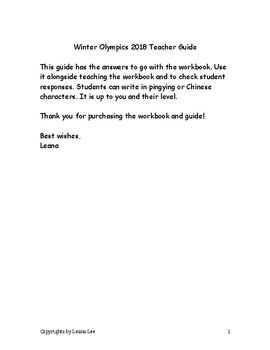 Winter Olympics 2018 Teacher Guide