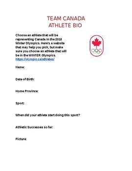 Winter Olympics 2018: Team Canada Athlete Bio