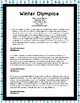 Winter Olympics (2018) Text Structures Reading Passages Printable