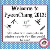 Winter Olympics 2018!  Welcome to PyeongChang!