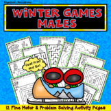 Winter Olympics 2018 : Winter Games Mazes -Fine Motor Skills and Problem Solving