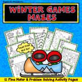 Winter Games 2018 Problem Solving Worksheets Executive Function Skills Printable