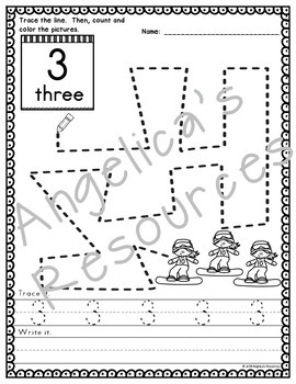 Winter Olympics 2018 : Number Tracing - Counting Activities - Just print & go!