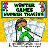 Winter Games 2018 : Number Tracing - Fine Motor Skills - Counting Numbers
