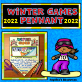 Winter Olympics 2018 : Winter Games Summary Pennant - Writing Craftivity