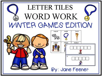 Winter Olympics 2018 Word Work using Letter Tiles