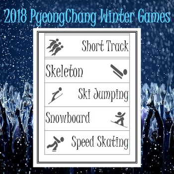 Winter Olympics 2018 for Primary Grades
