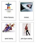 Winter Olympics 3-Part Cards