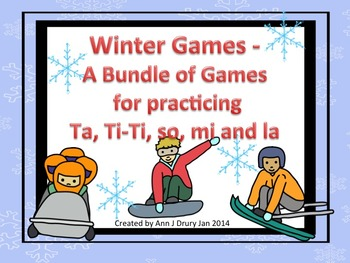 Winter Games - A Bundle of Games for Practicing Ta, Ti-Ti