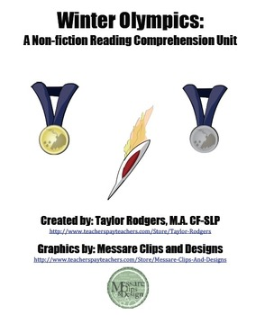 Winter Olympics- A Non-Fiction Reading Comprehension Unit