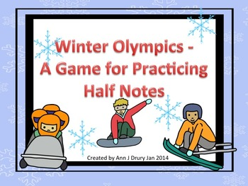 Winter  Games - A Rhythm Game for Practicing Half Notes