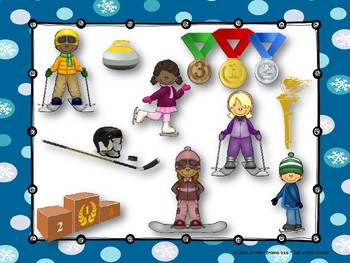 Winter Sports - A stick to staff notation game for practicing sol mi la