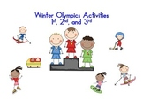 Winter Olympics Activities first, second, third grade