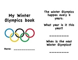 Winter Olympics Activity Book