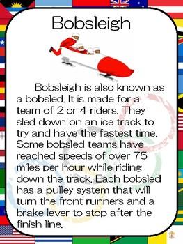Winter Olympics Anchor Charts