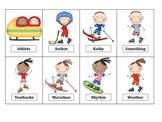 Winter Games Articulation! R, L, S, TH, CH, SH Card Decks