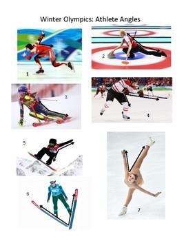 Winter Olympics Athlete Angles