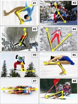 Winter Olympics Athletes and Angles Activity