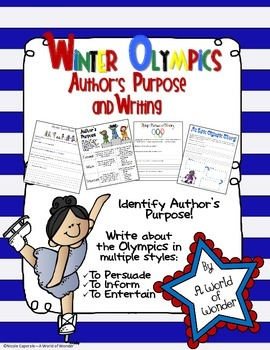 Winter Olympics: Author's Purpose and Writing