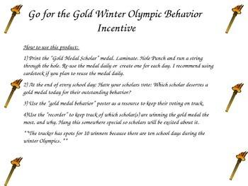 Winter Olympics Behavior Incentive
