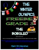 Winter Olympics Bobsled FREEBIE-3rd