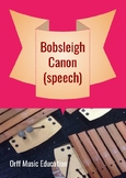 Winter Olympics Bobsleigh Canon speech arrangement plus lesson ideas