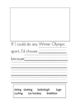 Winter Olympics Booklet