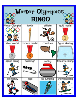 Winter Olympics Bundle (BINGO, Venn Diagrams, and Large Pictures)