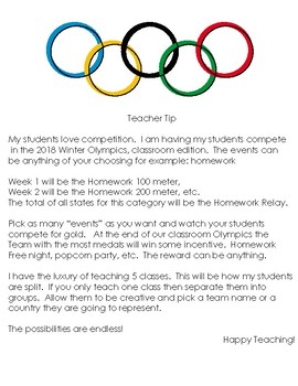 Winter Olympics Classroom Edition