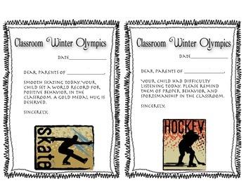 Winter Olympics Clip Chart