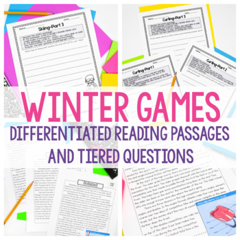 Winter Games - Close Reading Passages and Questions
