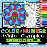 Winter Olympics - Color By Number - 2018 Winter Olympics Activities