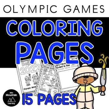 Winter Olympics Coloring Pages By Mini Mountain Learning Tpt