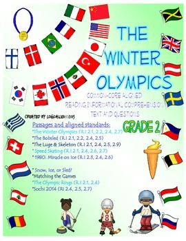 Winter Olympics Common Core Informational Reading Text and