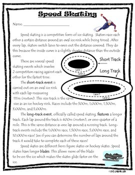 Winter Olympics Common Core Informational Reading Text and Questions-4th