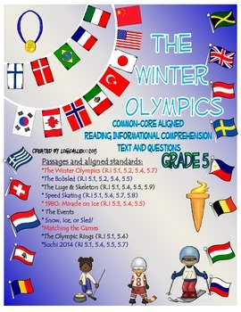 Winter Olympics Common Core Informational Reading Text and Questions-5th