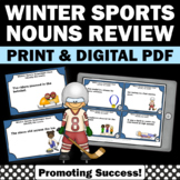 Noun Task Cards, Winter Sports Theme