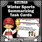 Summarizing Task Cards, Winter Sports Theme