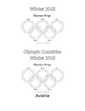 Winter Olympics Country Flag Booklet