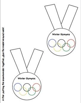 Winter Olympics Craft (Snowboarder)