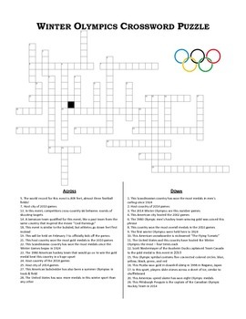 winter olympics crossword puzzle by the history ninja tpt. Black Bedroom Furniture Sets. Home Design Ideas