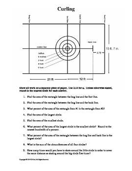 Curling Geometry and Area - Sports and Math