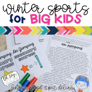 Winter Olympics ELA Activities for BIG KIDS! {3rd, 4th and 5th Grade}