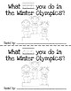 Winter Olympics Emergent Reader: What Can You Do?