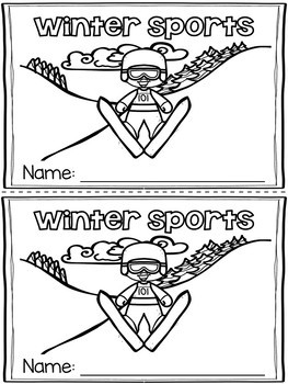 Winter Sports Emergent Readers