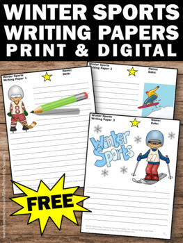 FREE Writing Paper for Winter Sports Activities