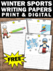 FREE Winter Writing Paper for Winter Sports Themed Classroom